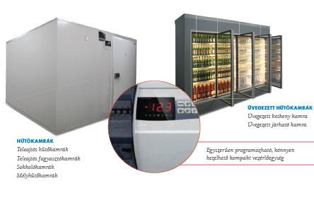 Háttérhűtő, üvegajtós hűtőkamra