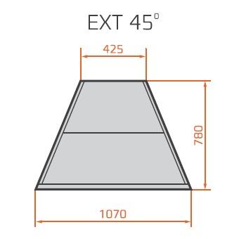 LNC Carina 03 EXT45 N | Semleges külső sarokpult