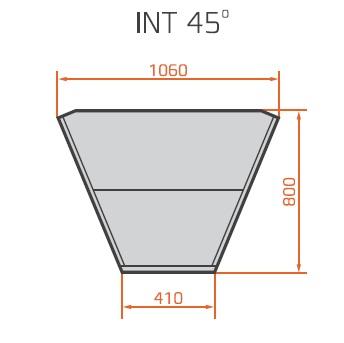 LNC Carina 03 INT45 N | Semleges belső sarokpult