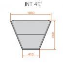 LNC Carina 03 INT45 N - Semleges belső sarokpult