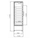 SCHA 601 INOX | Fiókos hűtővitrin rozsdamentes külsővel-belsővel