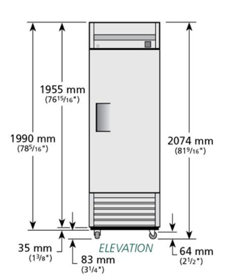 TS-23F - Rozsdamentes fagyasztószekrény