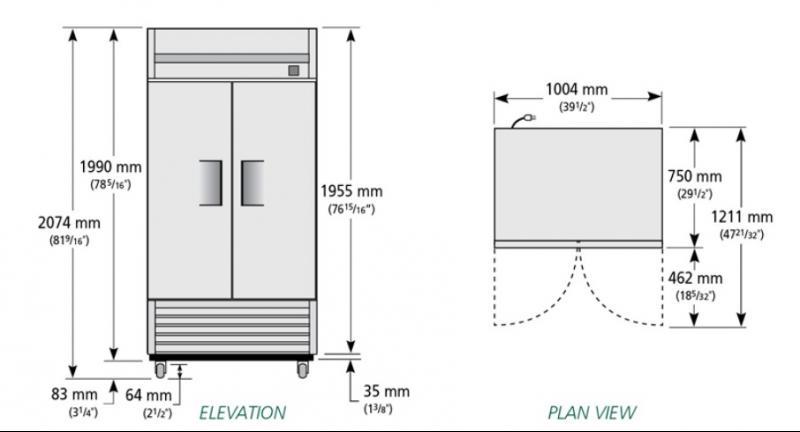 TS-35F - Rozsdamentes fagyasztószekrény