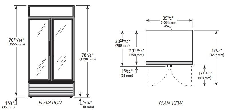 GDM-35-HC-LD - Üvegajtós hűtővitrin nyíló üvegajtókkal