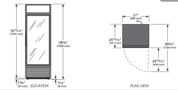 GDM-19T-HC-LD - Üvegajtós hűtővitrin
