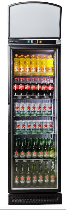 J-400 GD DT F - Üvegajtós hűtővitrin felépítménnyel