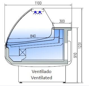 CVVEM-C 1,0 - Csemegepult