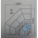 Marte AI 90° - Belső sarokpult
