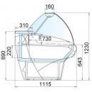 Giove-2 135 - Csemegepult (Ventilációs)