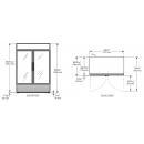 GDM-49-LD - Üvegajtós hűtővitrin nyíló üvegajtókkal