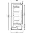 Argus 135 | Üvegajtós hűtött faliregál