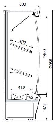 Smart FV 70 - Hűtött faliregál
