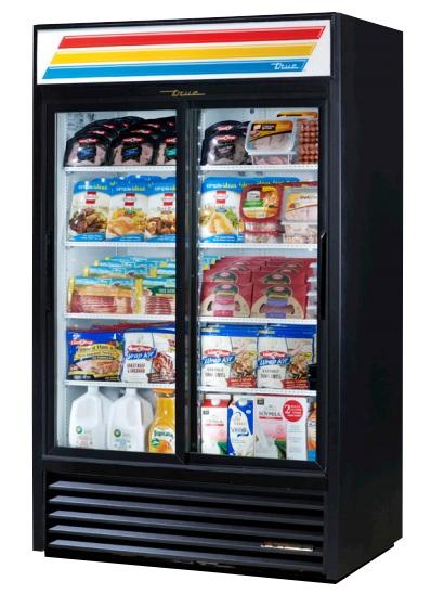 GDM-41-LD - Üvegajtós hűtővitrin csúszó üvegajtókkal