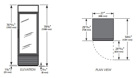 GDM-23-HC-LD - Üvegajtós hűtővitrin