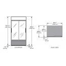 GDM-33-HC-LD - Üvegajtós hűtővitrin csúszó üvegajtókkal