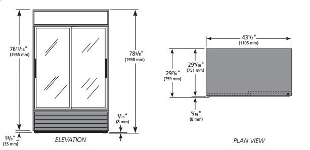 GDM-37-LD - Üvegajtós hűtővitrin csúszó üvegajtókkal
