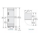 TS-23-2-HC - Rozsdamentes hűtőszekrény