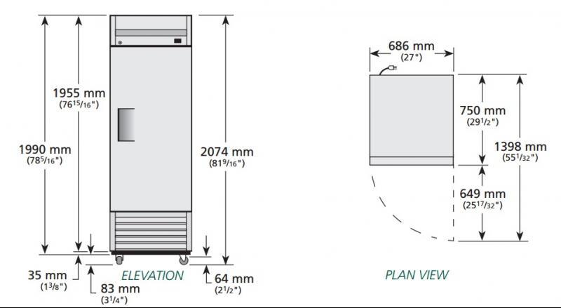 T-23-HC - Hűtőszekrény