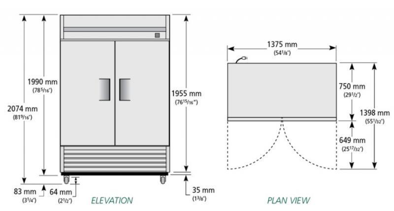 TS-49F - Rozsdamentes fagyasztószekrény