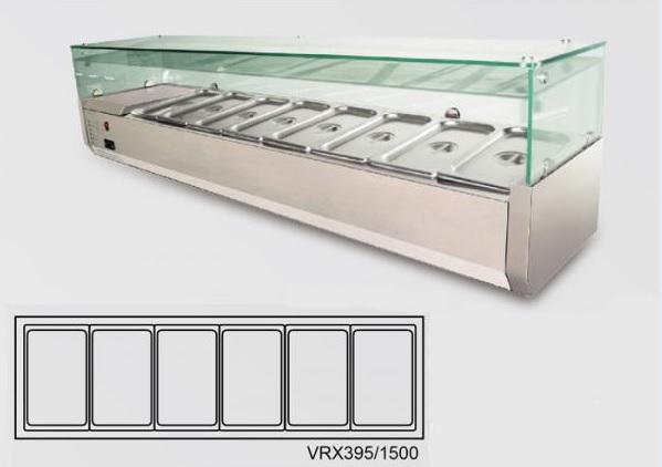 VRX395/1500 - Feltéthűtő (6x GN1/3)