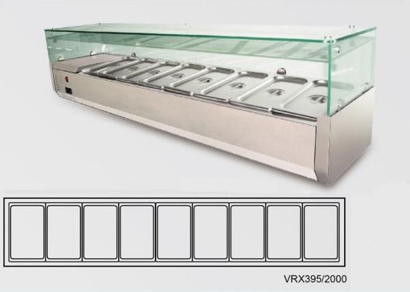 VRX395/2000 - Feltéthűtő (9x GN1/3)