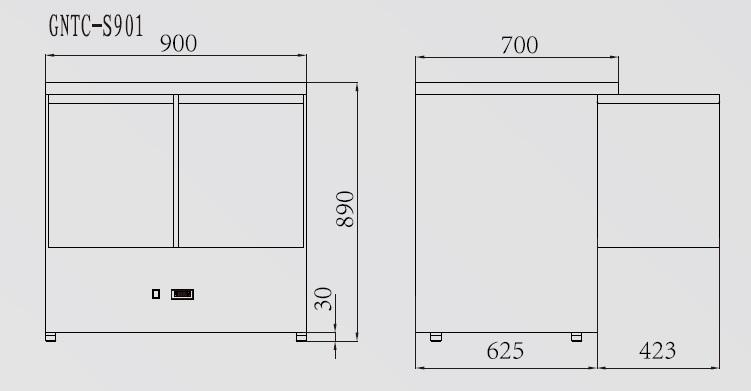 GNTC-S901 - Hűtött munkaasztal