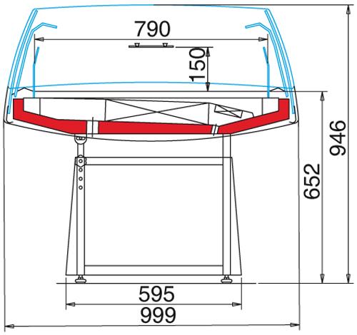 Arché XP 100 - Önkiszolgáló hűtősziget