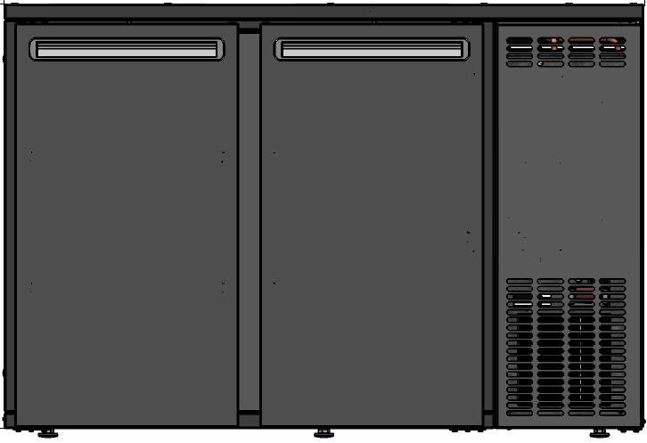 DCL-22 MU/VS - 2 ajtós bárhűtő