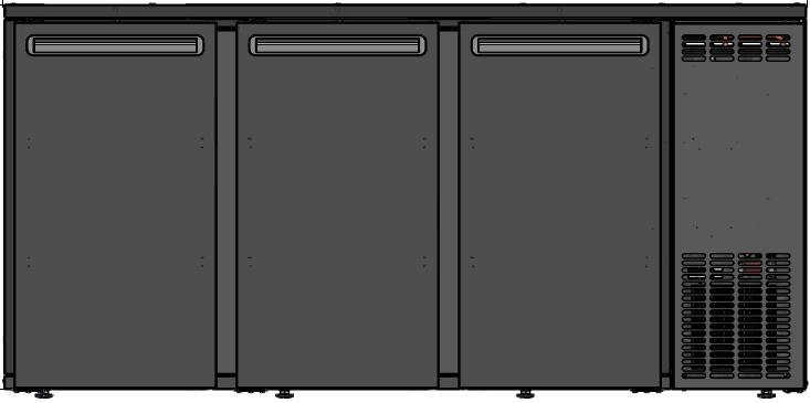 DCL-222 MU/VS - 3 ajtós bárhűtő
