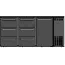DCL-662 MU/VS - Bárhűtő 1 ajtóval, 6 egyforma fiókkal