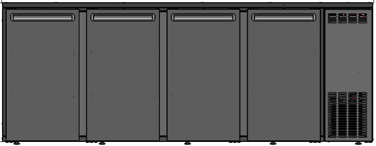 DCL-2222 MU/VS - 4 ajtós bárhűtő