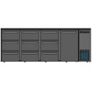 DCL-6662 MU/VS - Bárhűtő 1 ajtóval, 9 egyforma fiókkal