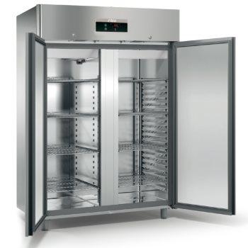 ME150T - Kétajtós rozsdamentes hűtőszekrény
