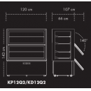 KD12Q2 - Parfé/Süteményes vitrin
