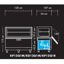 KD12Q1M - Beépíthető parfé vitrin