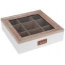 Teafilter tartó doboz 24x24x7 cm