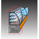 EVO 60 - Süteményes pult (beépített aggregáttal)
