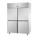 A414EKOMTN | Rozsdamentes osztott hűtőszekrény GN 2/1