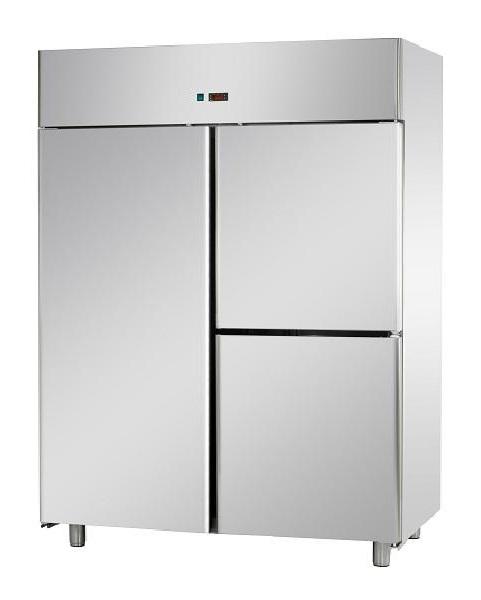 A314EKOMTN - Rozsdamentes 3 ajtós hűtőszekrény GN 2/1