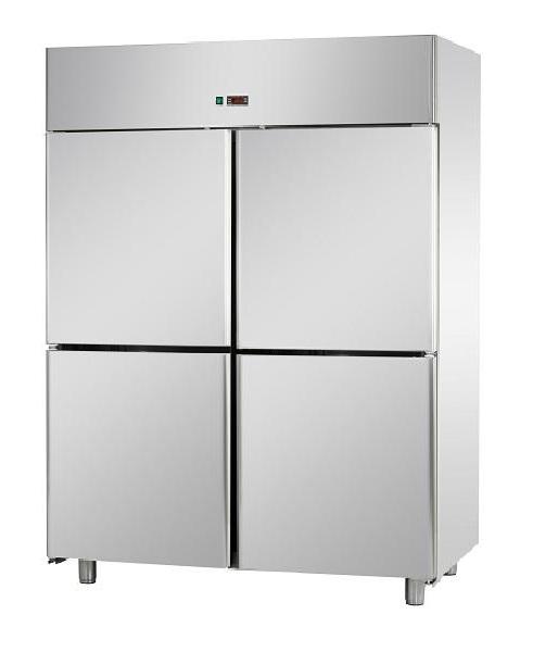 A414EKONN - Rozsdamentes 4 ajtós fagyasztószekrény GN 2/1