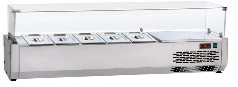VR3120VD - Feltéthűtő 4 x GN 1/3