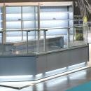 ZARA2 100 | Egyenes üvegű csemegepult beépített aggregáttal és ventilációs hűtéssel