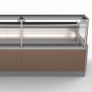 ZARA2 100 - Egyenes üvegű csemegepult beépített aggregáttal és ventilációs hűtéssel