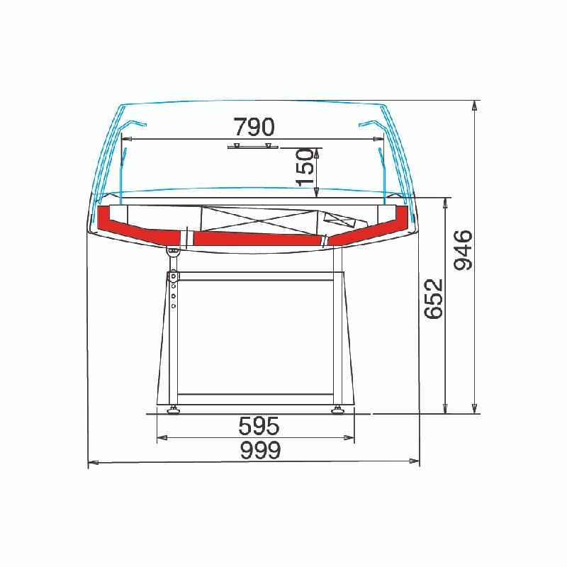 Arché XP 80 - Önkiszolgáló hűtősziget