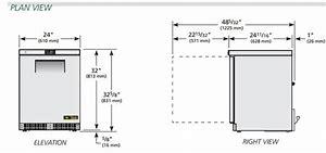 TUC-24F-HC - Rozsdamentes teleajtós fagyasztószekrény