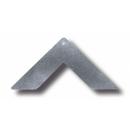 Sarok lap rejtett csatlakozóhoz - acél 30 mm