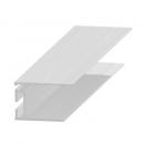 Rejtett csatlakozó profil - alumínium, 20 mm