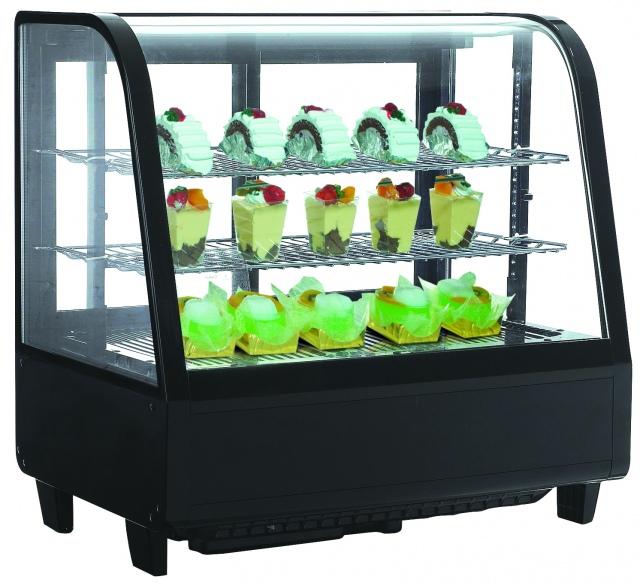 RTW-100 - Hajlított üvegű bemutatóvitrin