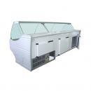 WCH-6/1BZA 1570 WEGA - Hajlított üvegű csemegepult beépített aggr.(S)