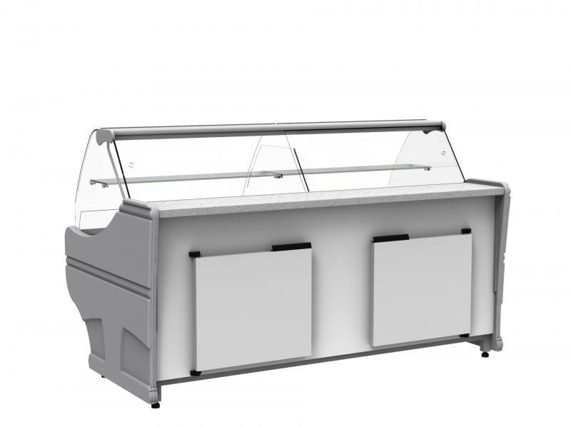 WCH-6/1BZ 1040 WEGA | Hajlított üvegű csemegepult telepített aggr.(S)